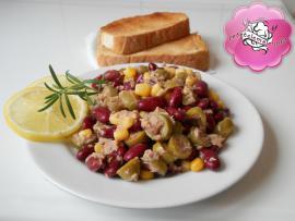 Retetele mele - Salata de ton cu fasole boabe
