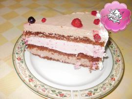 Retetele mele - Tort cu crema de finetti si mousse de fructe de padure